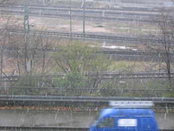 Hagel oder Schnee - Vier Jahreszeiten an einem Tag
