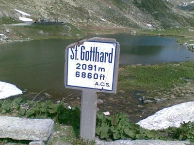 Passhöhe des Gotthard-Passes