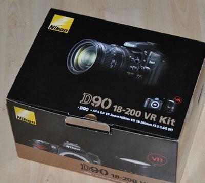 Nikon D90 verpackt