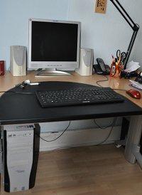 Der alte PC: Rechner, Bildschirm, Lautsprecher