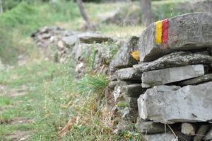 Trockenmauer in Les Alauzas, Ardèche