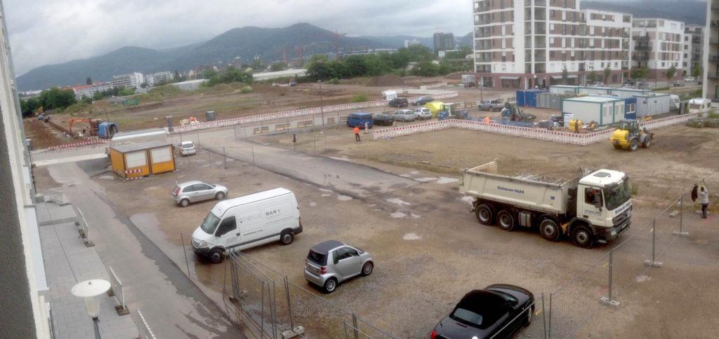 Die Pfaffengrunder Terrasse wird allmählich provisorisch gestaltet