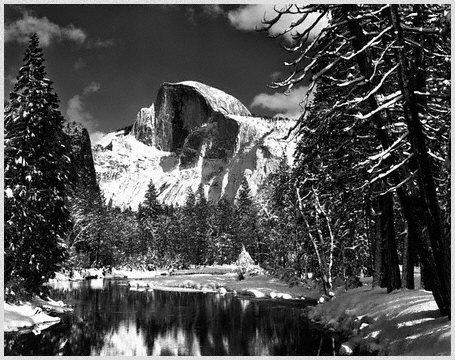 Ansel Adams - Half Dome, Merced River