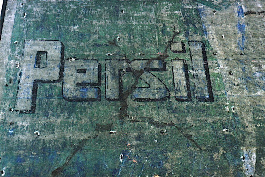 Fassadenwerbung von Persil in Stendal, 1990